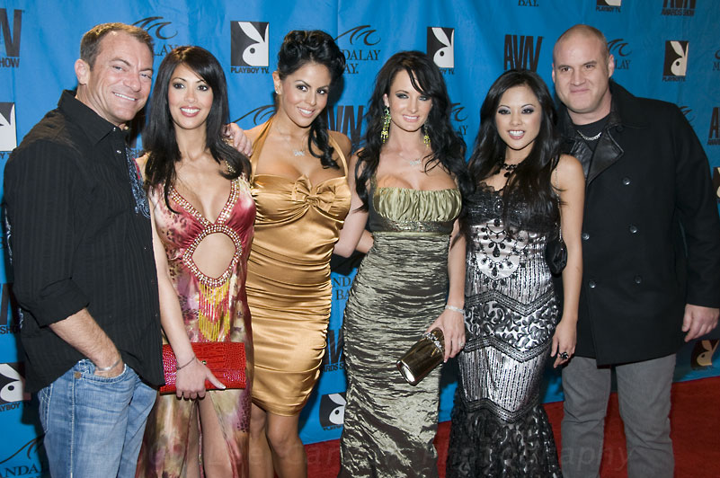 Randy Spears, Yasmine, Mikayla Mendez, Alektra Blue, Kaylani Lei and Michael Raven at 2009 AVN Adult Movie Awards