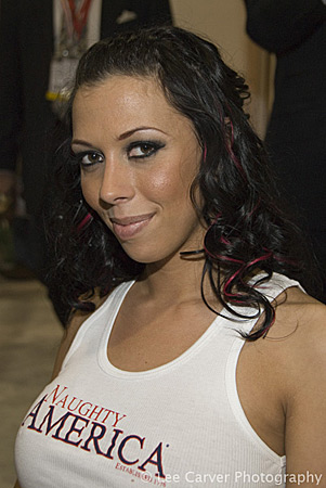 rachel starr at the 2008 adult entertainment expo for naughty america
